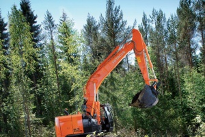 Forestry excavators