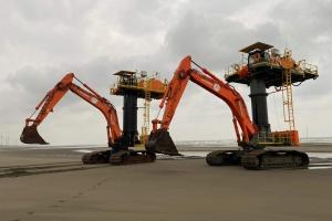 Jan De Nul deploys three ZX870 Starfish for construction windmill farm in Taiwan